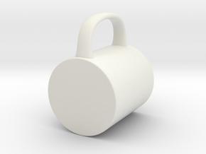 Coffee Mug for BJD: SD 1/3 scale in White Natural Versatile Plastic