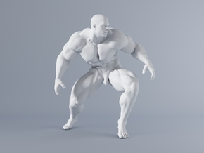 Mini Strong Man 1/64 023 in Smooth Fine Detail Plastic: 1:64 - S