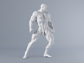 Mini Strong Man 1/64 026 in Smooth Fine Detail Plastic: 1:64 - S