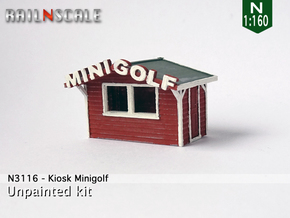 Kiosk Minigolf (N 1:160) in Smooth Fine Detail Plastic