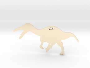 Suchomimus necklace Pendant in 14K Yellow Gold