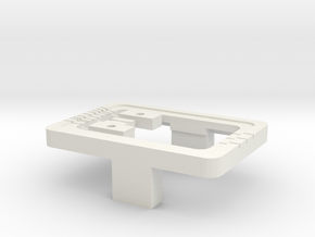 Weiche für, turnout for, junction for Car-System in White Natural Versatile Plastic