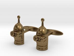 Fixed Bender's Cufflinks. Futurama fan art in Natural Bronze