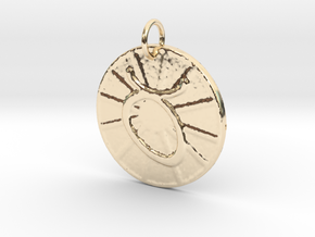 Taurus Wheel  by ~M. (Apr. 20-May 20) in 14k Gold Plated Brass