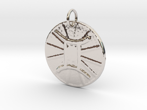 Gemini Wheel by ~M. (May 21 - July 20) in Rhodium Plated Brass