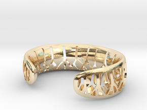 Forest for the Trees Cuff in 14K Yellow Gold: Small