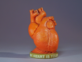 Valentine's Heart - 'My Heart is Yours' in Glossy Full Color Sandstone