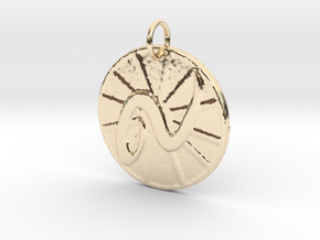 Leo Wheel by ~M. (July 23 - Aug. 22) in 14k Gold Plated Brass