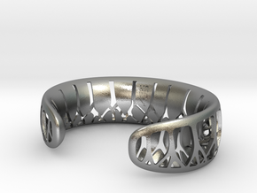 Forest for the Trees Cuff in Natural Silver: Large