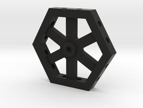 6-camera Base in Black Natural Versatile Plastic