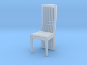 Dining Chair Scaled in Smooth Fine Detail Plastic: 1:48 - O