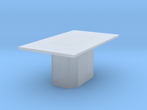 Marble Style Table Scaled in Smooth Fine Detail Plastic: 1:48 - O