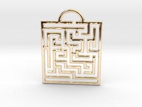 Maze Pendant in 14K Yellow Gold