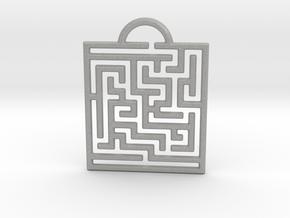 Maze Pendant in Aluminum