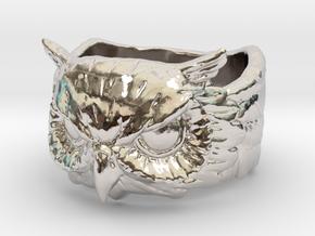 Owl Ring size 9 in Platinum: 9 / 59