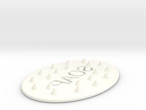 Soap Holder/Dish in White Processed Versatile Plastic