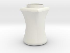 Circle to square jar in White Natural Versatile Plastic