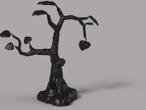 Mini Tree in Black Natural Versatile Plastic