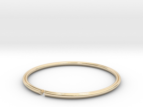 Secret Heart Introvert Bangle in 14k Gold Plated Brass