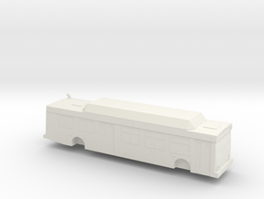 o scale New Flyer C40lf bus in White Strong & Flexible