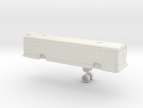 o scale GM/MCI/Nova Classic 1 door bus in White Natural Versatile Plastic