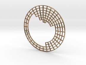 Circular Periodic Table pendant in Raw Brass
