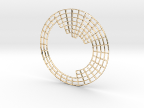 Circular Periodic Table pendant in 14K Yellow Gold