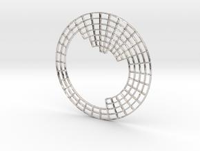 Circular Periodic Table pendant in Rhodium Plated Brass