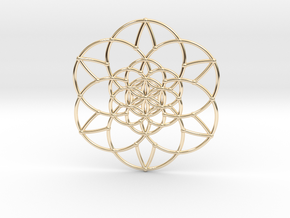 Fractal Flower of life  in 14K Yellow Gold