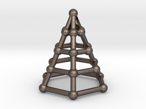 Skeleton cone in Polished Bronzed Silver Steel