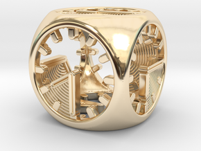 Tick Tock D6 in 14K Yellow Gold