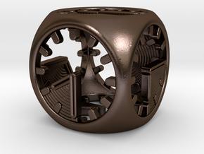 Tick Tock D6 in Polished Bronze Steel