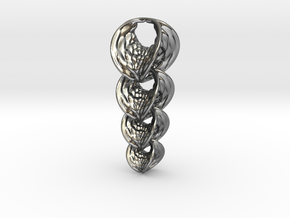 Hyperbole 04 Chain Small in Polished Silver (Interlocking Parts)