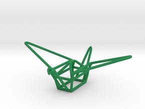 Paper Crane in Green Processed Versatile Plastic