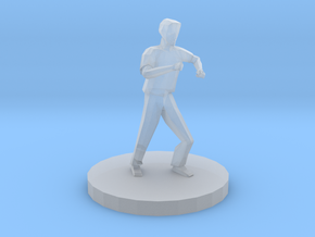 Man in Defensive Stance in Smooth Fine Detail Plastic