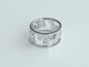 4SEASONS FALL M56 17.8 in Fine Detail Polished Silver: Medium