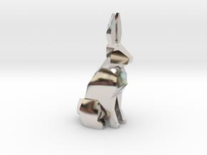 Pawn - F[1,0M/1,1C] White Warren in Rhodium Plated Brass