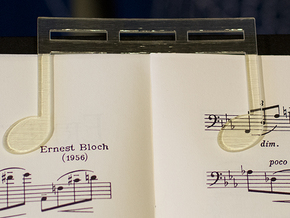 Music Book Page Holder / Music Clip customizable in Transparent Acrylic