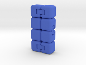 Fidget Cube Stress Reliever in Blue Strong & Flexible Polished