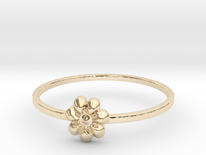 Blooming Flower (size 4-13) in 14k Gold Plated Brass: 8 / 56.75