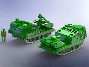 British Tracked Rapier SAM System 1/200 in Smooth Fine Detail Plastic