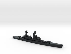 USS CGN-25 Bainbridge, 1990 layout, 1/3000 in Black Hi-Def Acrylate