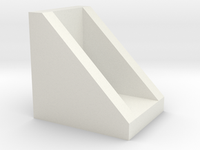 Corner for connect 2020 aluminium profiles in White Strong & Flexible