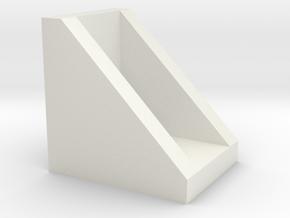 Corner for connect 2020 aluminium profiles in White Natural Versatile Plastic