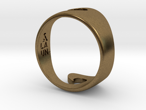 Wave Ring - Water (purchase with Wave Ring - Air) in Natural Bronze: 10 / 61.5