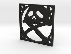 "Fan Grille 30x30mm ""Pyrat"" in Black Natural Versatile Plastic"
