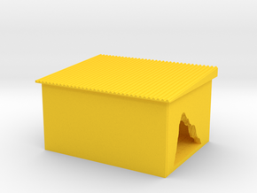 Building With A Hole in Yellow Processed Versatile Plastic