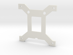 CPU-Backplate for Intel Socket 1151 in White Natural Versatile Plastic