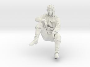 Soviet Tank Crewman in White Natural Versatile Plastic: 1:35