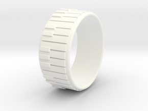 Piano Ring - US Size 10 in White Processed Versatile Plastic